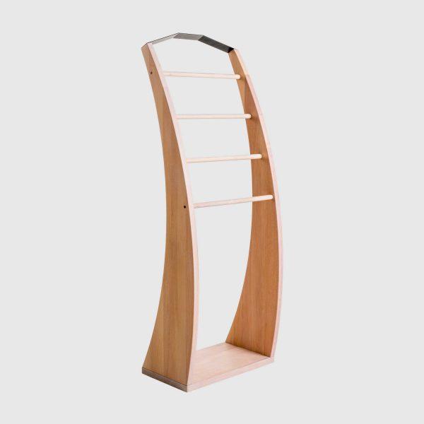 Stojalo za oblačila iz bukovega lesa