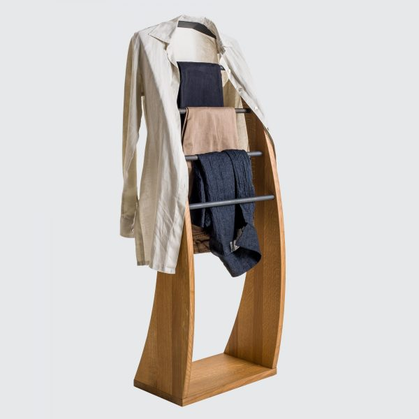 Solid oak clothes valet_07
